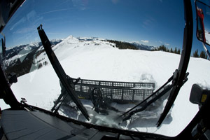 View from snow cat