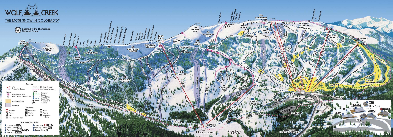 Area Maps Wolf Creek Ski Area Coloradowolf Creek Ski Area